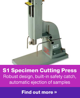 Wallace Hand Operated Rubber Specimen Cutting Press - S1